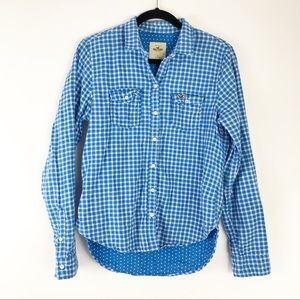 Hollister Hi-Lo Button Down Shirt - Size S
